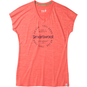 Smartwool Merino Sport 150 Go Far Feel Good T-shirt Femme, light habanero heather